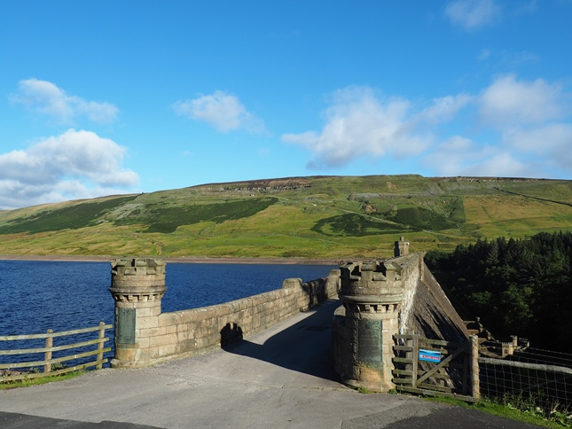 Dead Man's Hill from Scar House Reservoir dam