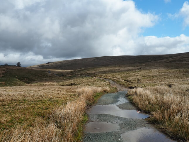 Blea Moor from the popular path to Whernside
