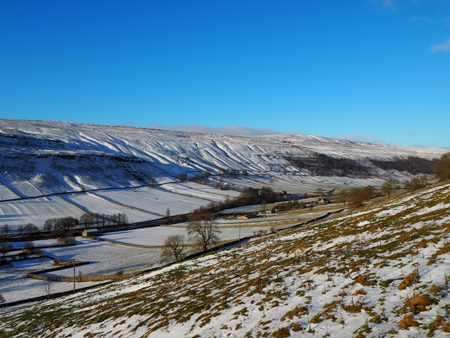 Birks Fell and Wharfedale in winter