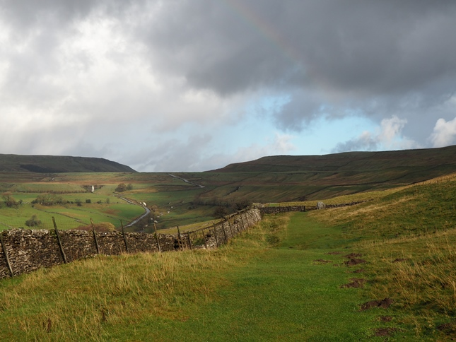 Buckden Rake with the Kidstones Pass in the distance
