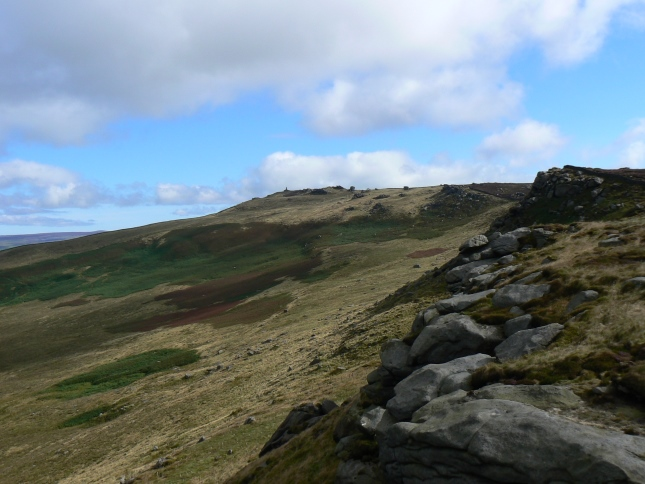Looking along Rylstone Edge towards Cracoe Fell