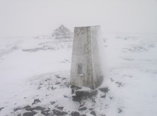 The summit of Buckden Pike in November 2005