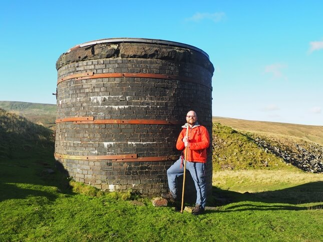 Next to one of the ventilation shafts on Blea Moor