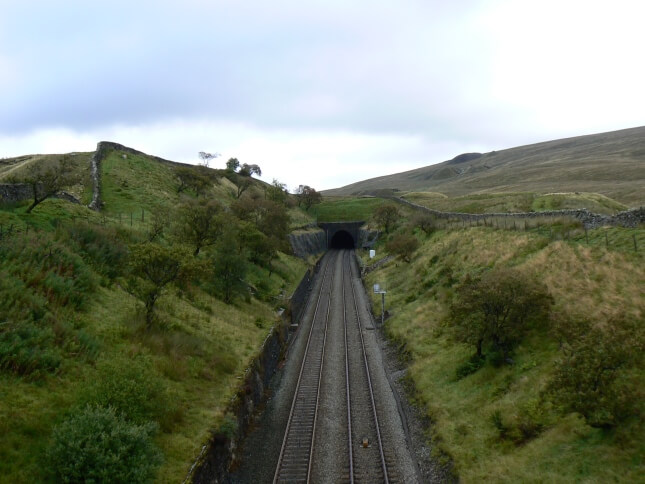 The entrance to the Blea Moor Tunnel