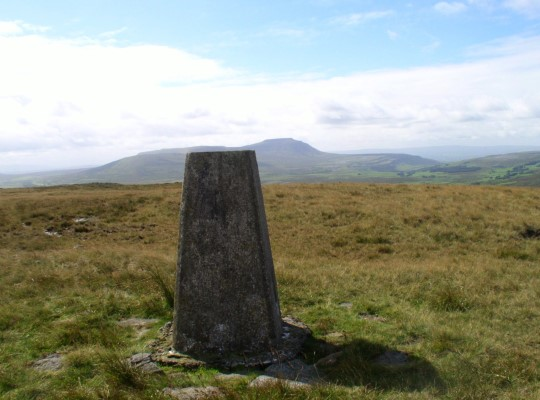 The trig point on Blea Moor