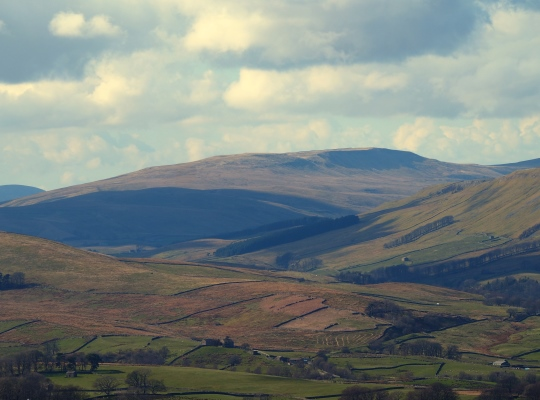 Swarth Fell from Wether Fell in Wensleydale