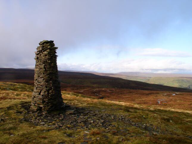 The beacon at the northern end of the summit