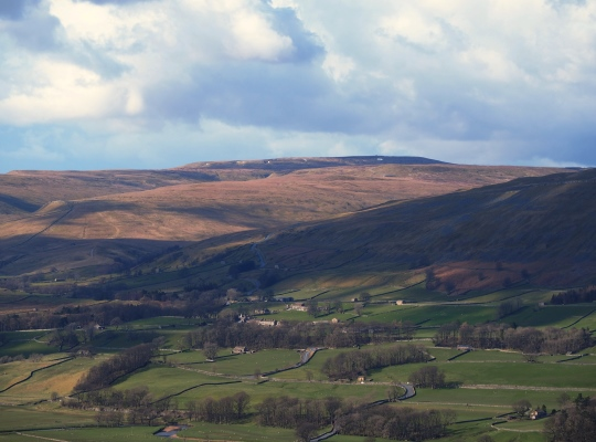 Looking across Wensleydale towards Great Shunner Fell