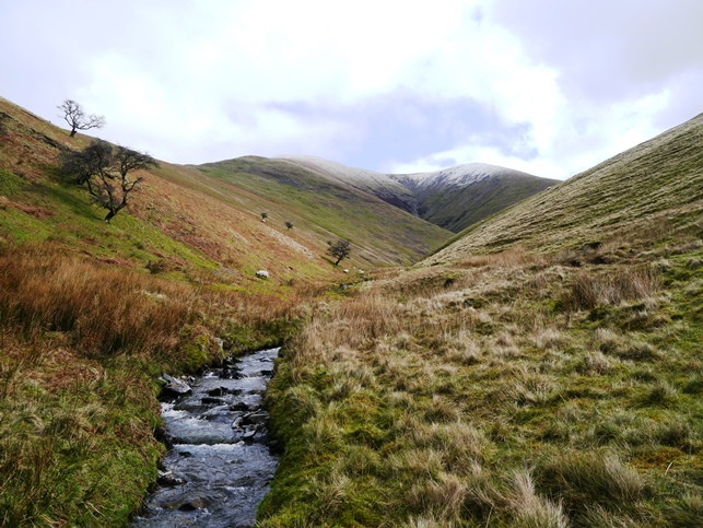Bram Rigg Beck with Bram Rigg on the left and Calders on the right