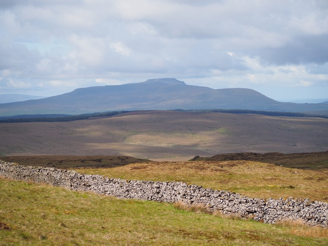 Cam Rakes from Woldside with Ingleborough in the distance