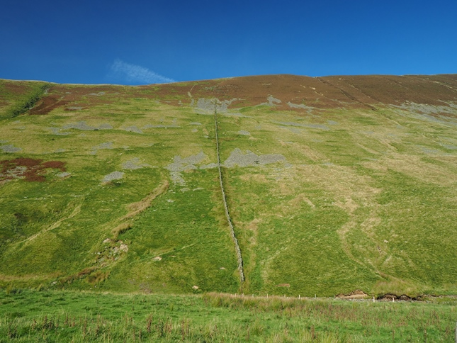 The steep flanks of Calf Top above Barbondale