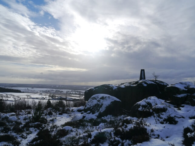 The Lindley Moor trig point