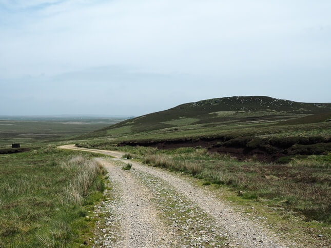 The track passing below Low Greygrits