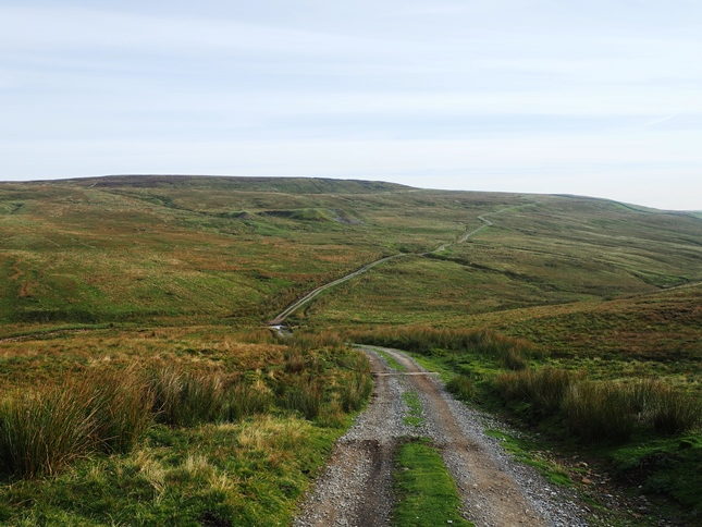 The shooting track heading for Black Bank