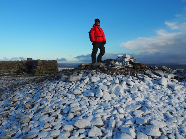 On the summit of Ingleborough