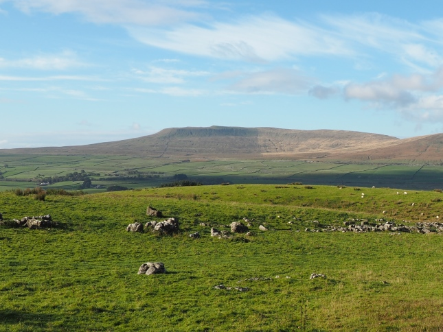 Simon Fell from across Ribblesdale above High Birkwith