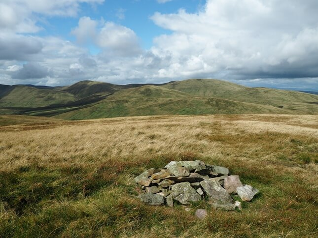 The summit of Harter Fell looking towards the rest of the Howgill Fells
