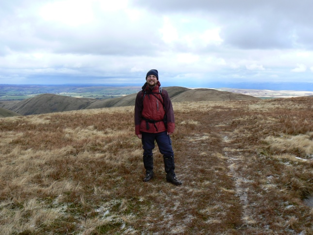 On the unmarked summit of Hazelgill Knott