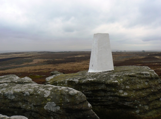The Heyshaw Moor trig point