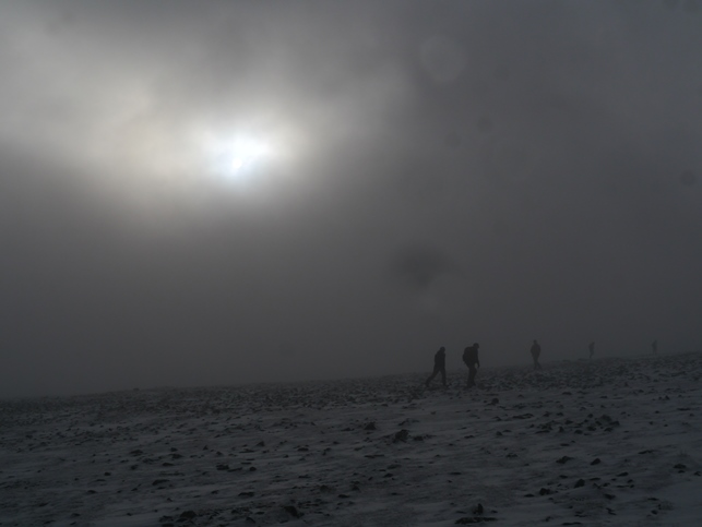Winter on the summit of Ingleborough