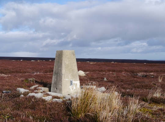 The Colsterdale Moor trig point