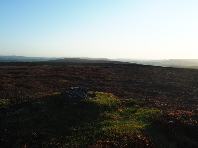 The top of Round Hill looking towards The Old Pike