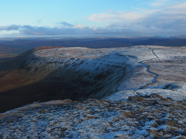 Looking down on Simon Fell from Ingleborough