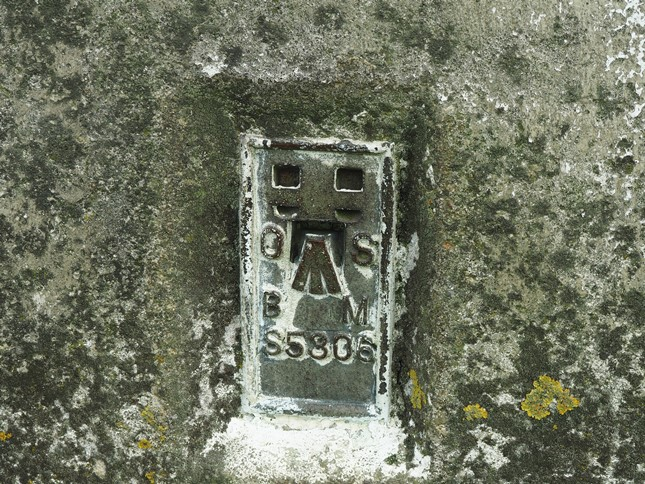 The Delph Farm trig point flush bracket
