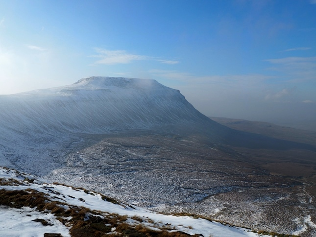 Ingleborough from Simon Fell's edge path