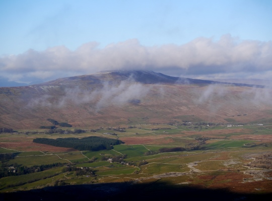 A cloud topped Whernside from Ingleborough