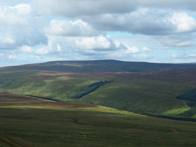 Looking across the head of Coverdale towards Buckden Pike