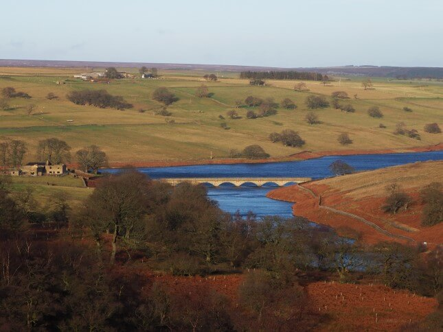 Roundhill Reservoir from the folly called Arnagill Tower
