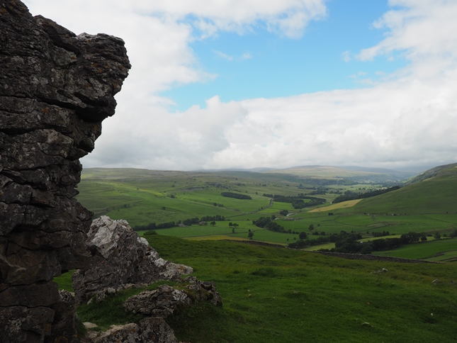 The view up Littondale from Conistone Pie