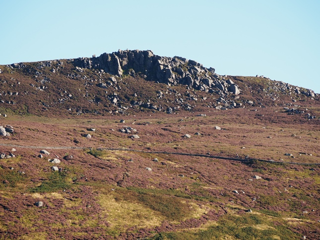 The summit rocks above Skyreholme