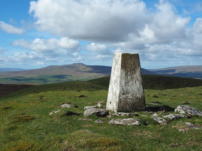 The Cosh Outside trig point to the west of the summit