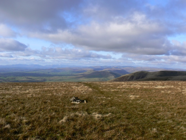 The summit of Bram Rigg Top looking towards the Lake District