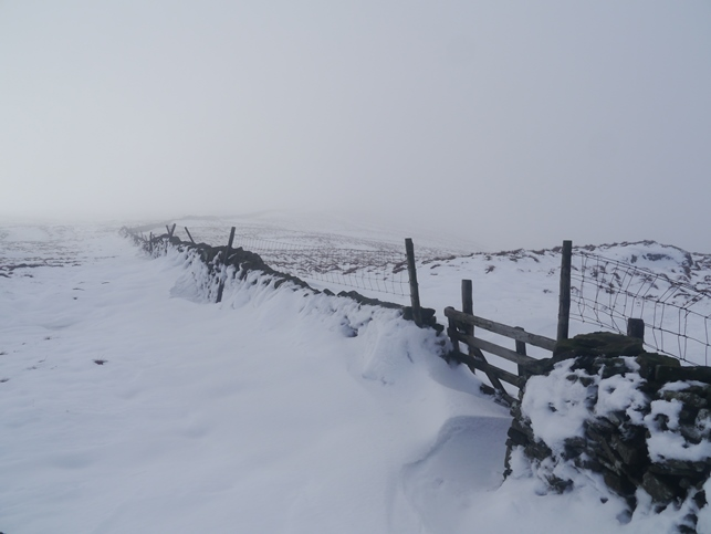 On Darnbrook Fell in winter