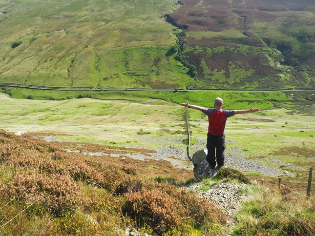 Standing on the Hanging Stone high above Barbondale
