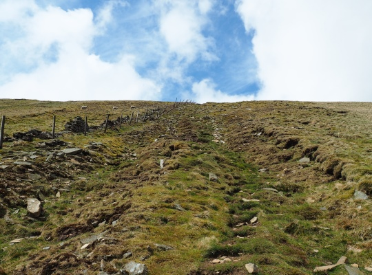 The final steep section of the direct route from Winterscales