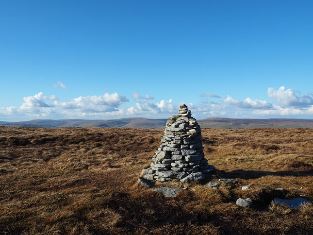 The summit of Drumaldrace looking towards Great Shunner Fell and Lovely Seat