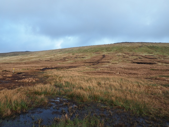 The path to the top of Great Whernside from above Hag Dyke