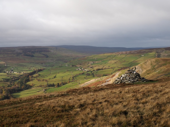 The cairn near the summit