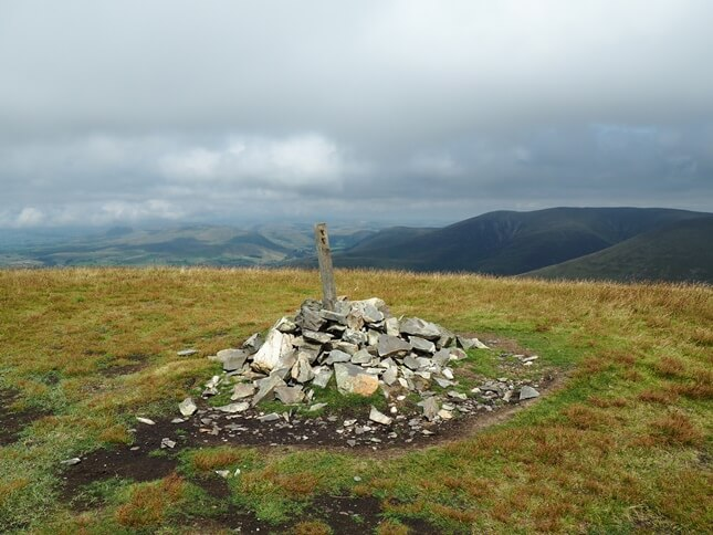 The summit cairn on Arant Haw