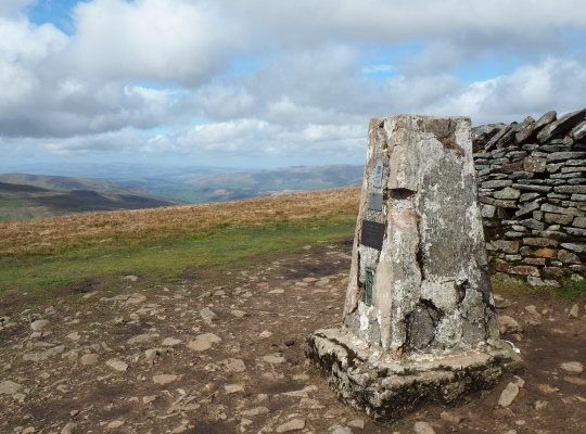 The trig point on Whernside