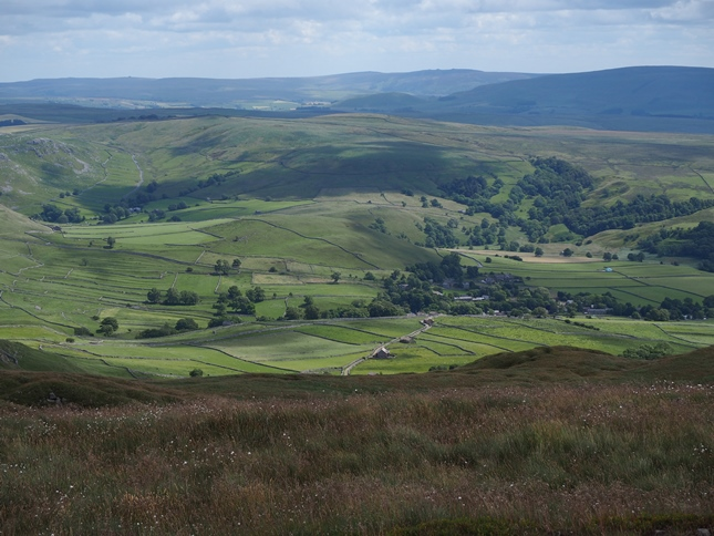 The view of Malhamdale from just east of the summit