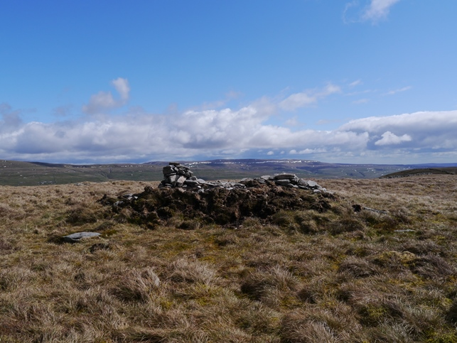 The summit of Birks Fell looking towards Great Whernside