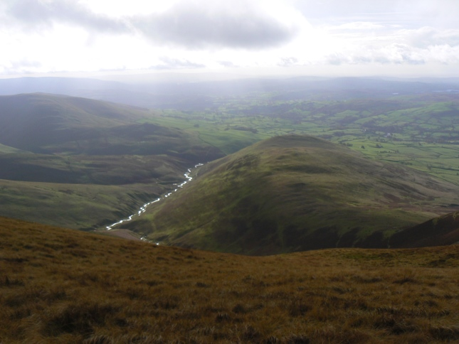 Looking down on Brown Moor from Fell Head