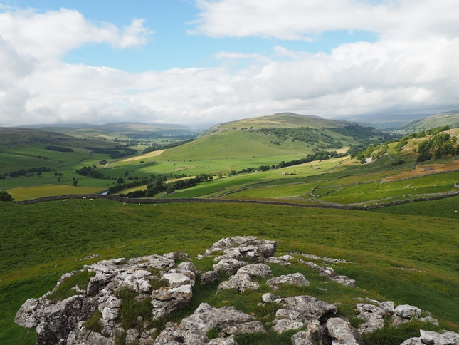 Littondale and Wharfedale from Conistone Pie