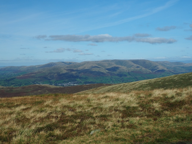 Sedbergh and the Howgill Fells from Calf Top