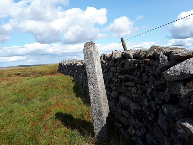 The boundary stone to the west of the trig point